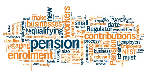 Pensions Word Cloud Auto Enrolment