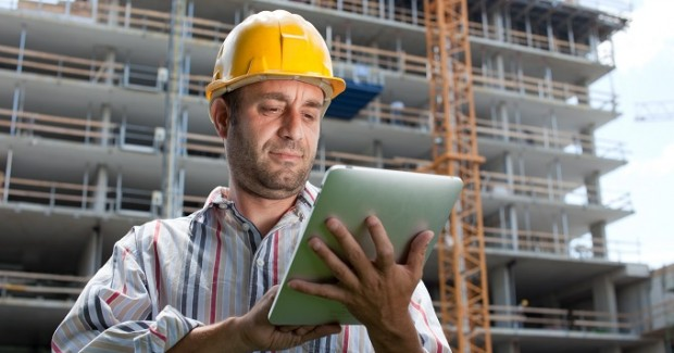 Builder with iPad